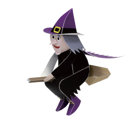 切り絵 ハロウィン 魔女