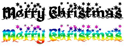 クリスマス用無料フォント利用例
