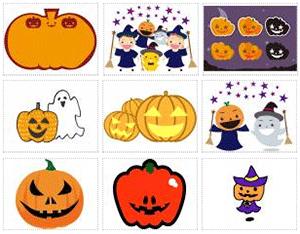 イラストACハロウィンかぼちゃ素材