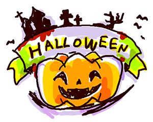 ハロウィンかぼちゃ(手描き風)
