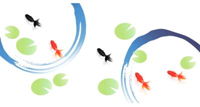 金魚のワンポイント無料イラスト